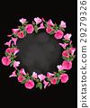 Pink floral wreath. 29279326