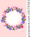 Colorful floral wreath. 29279363