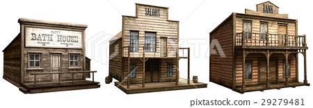 Wild west buildings 29279481