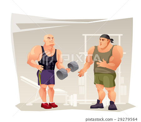 Bodybuilders in the gym. 29279564