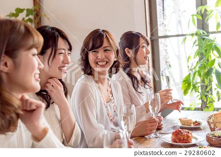 Young lady, Gokon, 4 people, restaurant 29280602