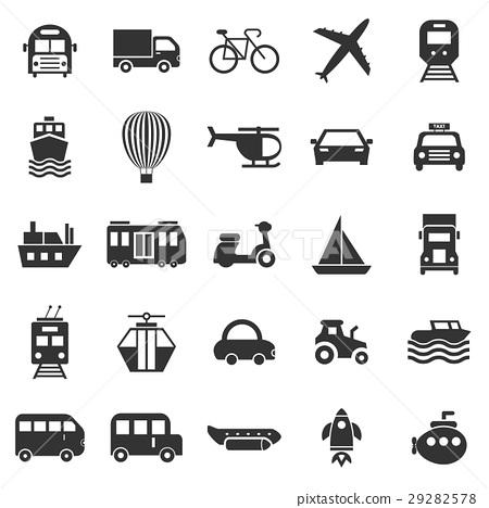 Transportation icons on white background 29282578