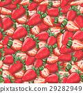草莓 花紋 圖樣 29282949