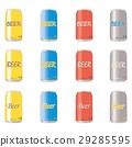 vector, vectors, can of beer 29285595