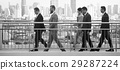 Walking Business People City Background 29287224