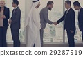 Business Partners Introductionary Handshake Bow 29287519
