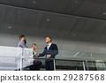 Men Women Business Agreement Hands Shake 29287568