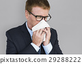 Business Man Sick Cry Tissue Paper 29288222