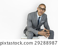 African Descent Business Man Thinking Concept 29288987