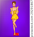 Vector pop art illustration of a young 29291867