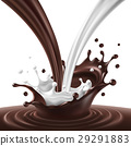 Vector illustration of a flow of milk and 29291883