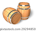 Two wooden barrels 29294850