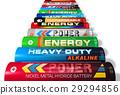 Row of AA batteries 29294856