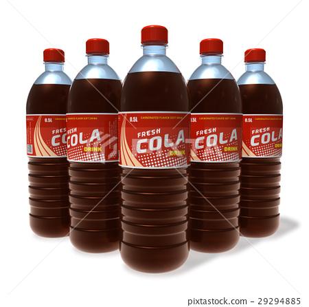 Set of cola drinks in plastic bottles 29294885