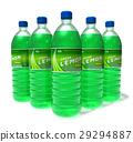 Set of lemon drinks in plastic bottles 29294887