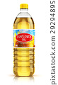 Plastic bottle with sunflower seed oil 29294895