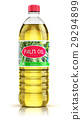 Plastic bottle with palm oil 29294899
