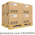Cardboard boxes on pallet 29294904