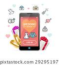 Wedding Planner Concept Mobile Phone App. Vector 29295197