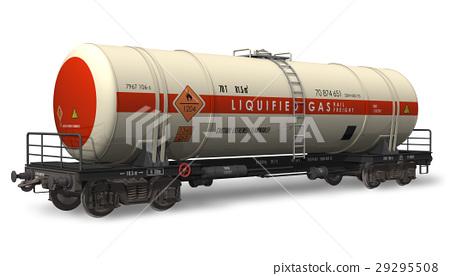 Gasoline tanker railroad car 29295508
