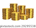 Stacks of golden coins 29295538