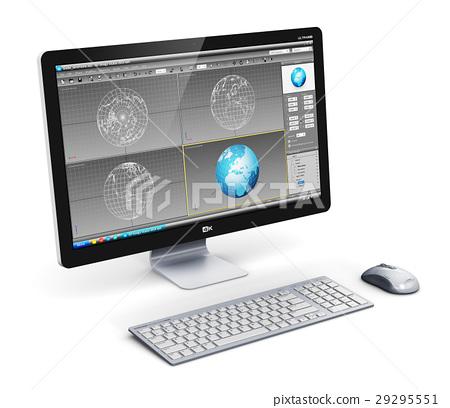 Professional desktop computer workstation 29295551