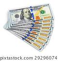 美元 100 钱 29296074