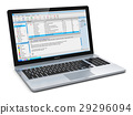 Laptop with e-mail client 29296094