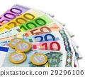 歐元 錢 錢幣 29296106