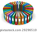 folder, circle, color 29296510