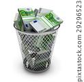 Euro in the trash bin 29296523