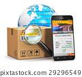 Online parcel tracking concept 29296549