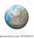 Physical globe, European side 29296552