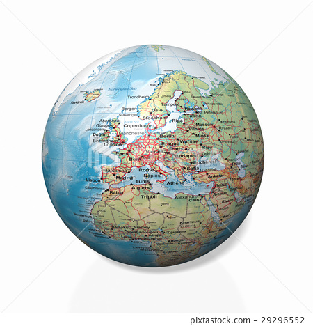Physical globe, European side 29296552