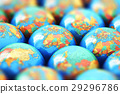 Small Earth globes with world maps 29296786