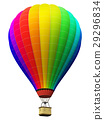 Color rainbow hot air balloon isolated on white 29296834
