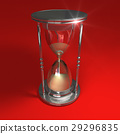 Hourglass on red 29296835