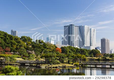 가을의 하마 리큐 은사 정원과 豊海 타워 아파트 29298378