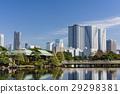 滨离宫庭园 天空 摩天大楼 29298381