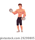 bodybuilder, vector, workout 29299805