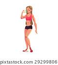 bodybuilder, woman, vector 29299806