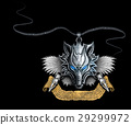 silver amulet wolf 29299972