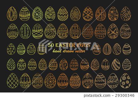 Big vector Easter egg set. 29300346