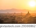 bagan, myanmar, sunrise 29300862
