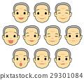 얼굴, 아이콘, 표정 29301084
