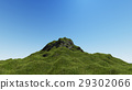 Landscape mountain on blue sky 3D rendering 29302066