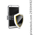 Mobile phone security concept. Cell phone and 29304492