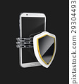 Mobile phone security concept. Cell phone and 29304493
