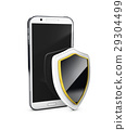 Mobile phone security concept. Cellphone and 29304499
