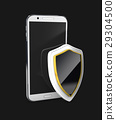 Mobile phone security concept. Cellphone and 29304500